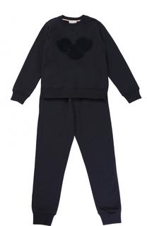 Спортивный костюм с отделкой из шерсти Moncler Enfant