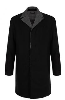 Шерстяное однобортное пальто с отложным воротником Transit