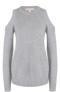 Вязаный пуловер с открытыми плечами MICHAEL Michael Kors