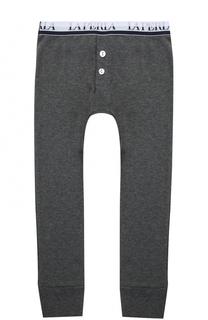 Хлопковые брюки с эластичным поясом La Perla