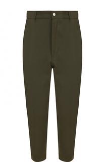Укороченные брюки из смеси шерсти и хлопка Ami