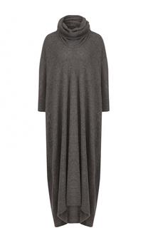 Вязаное платье-макси с объемным воротником Yohji Yamamoto
