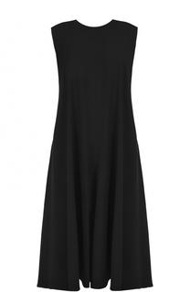 Платье-миди свободного кроя без рукавов Yohji Yamamoto