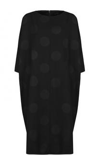 Шерстяное платье-миди свободного кроя Yohji Yamamoto