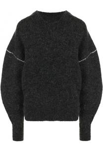 Вязаный пуловер с круглым вырезом и объемными рукавами Mm6
