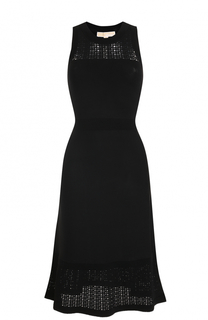 Приталенное платье-миди без рукавов MICHAEL Michael Kors