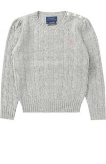 Пуловер из шерсти и кашемира фактурной вязки Polo Ralph Lauren