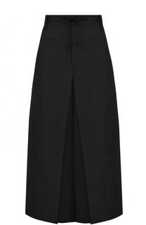 Укороченные шерстяные брюки с защипами Yohji Yamamoto