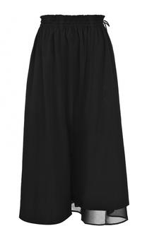 Укороченные брюки с эластичным поясом Yohji Yamamoto