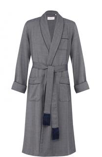 Шерстяной халат с поясом Derek Rose