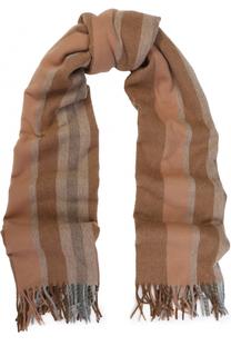 Шерстяной шарф в полоску с бахромой Acne Studios