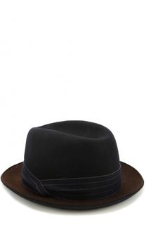 Шерстяная шляпа с лентой Giorgio Armani
