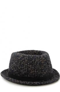 Шляпа фактурной вязки с лентой Giorgio Armani