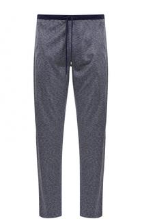Домашние брюки из смеси хлопка и шелка свободного кроя Zimmerli
