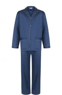 Хлопковая пижама с контрастной отделкой Zimmerli