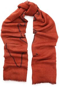 Шарф из смеси кашемира и шелка с необработанным краем Giorgio Armani