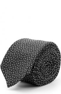 Шелковый галстук с принтом Saint Laurent