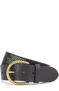 Кожаный ремень с металлическими заклепками Polo Ralph Lauren