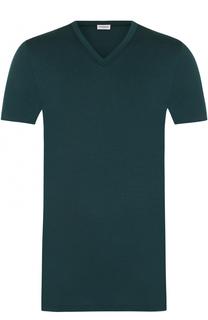Хлопковая футболка с V-образным вырезом Zimmerli