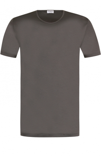 Хлопковая футболка с круглым вырезом Zimmerli