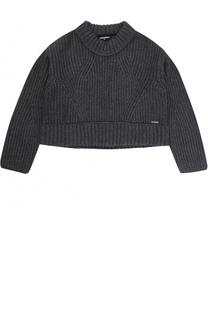 Укороченный свитер фактурной вязки Dsquared2