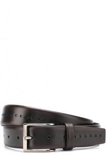 Кожаный ремень с металлической пряжкой Barrett