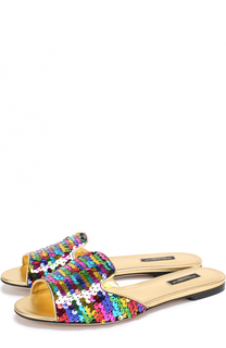 Шлепанцы Bianca с пайетками Dolce & Gabbana