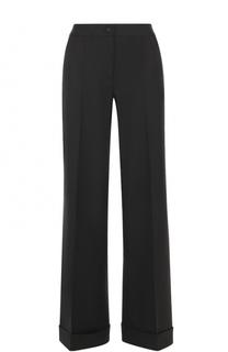 Шерстяные расклешенные брюки с контрастной прострочкой Dolce & Gabbana