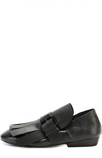 Кожаные ботинки с бахромой Marsell