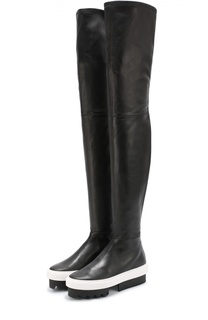 Кожаные ботфорты на платформе Givenchy