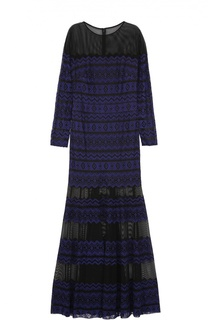 Полупрозрачное кружевное платье-макси Tadashi Shoji