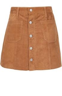 Замшевая мини-юбка с накладными карманами Denim&Supply by Ralph Lauren