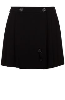 Мини-юбка в складку с декоративной отделкой Kenzo