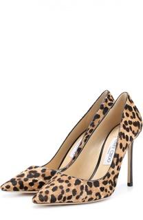 Туфли Romy 100 с рисунком под леопарда Jimmy Choo