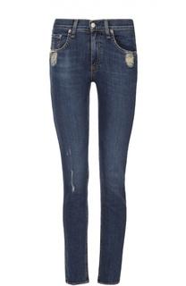 Укороченные джинсы с бахромой и потертостями Rag&Bone Rag&Bone