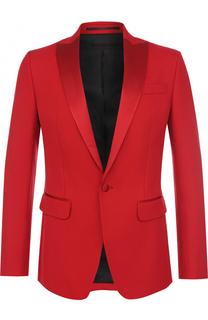 Однобортный пиджак из смеси хлопка и шелка Dsquared2