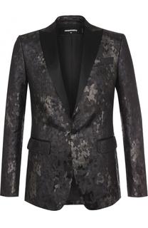 Однобортный пиджак с фактурной отделкой Dsquared2