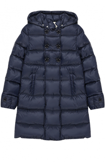 Пуховое пальто с декоративными пуговицами и капюшоном Gucci