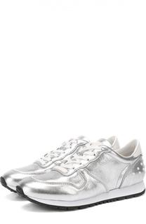 Кросcовки из металлизированной кожи на шнуровке Tod's Tods