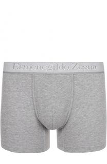 Комплект из двух хлопковых боксеров с широкой резинкой Ermenegildo Zegna
