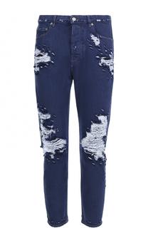 Укороченные джинсы с декоративными потертостями Golden Goose Deluxe Brand