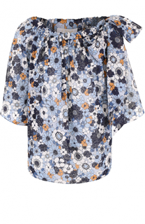 Топ с открытыми плечами и цветочным принтом Chloé