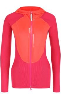 Спортивная облегающая куртка с капюшоном Adidas by Stella McCartney