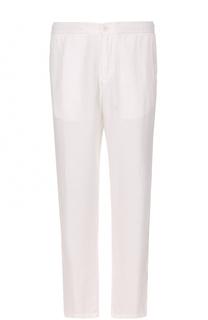 Льняные брюки прямого кроя Z Zegna