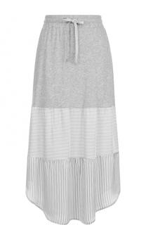 Хлопковая юбка-миди с эластичным поясом Deha