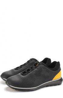 Кожаные кроссовки с перфорацией Z Zegna