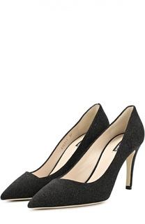 Кожаные туфли с зауженным мысом Giorgio Armani