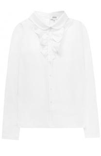 Блуза прямого кроя с оборками и бантом Aletta
