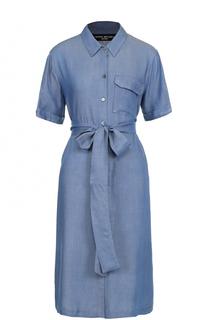 Джинсовое платье-рубашка с поясом Pietro Brunelli