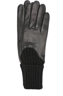 Кожаные перчатки с шерстяной отделкой Agnelle